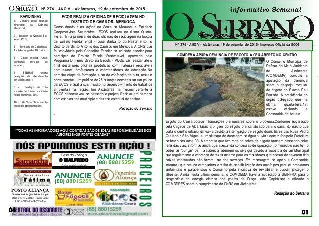 NA00000000000000000000000000 sssaf COMDEMA APURA DENUNCIA DE ESGOTO A CEÚ ABERTO NO CENTRO Esgoto do Ceará obteve informaç...