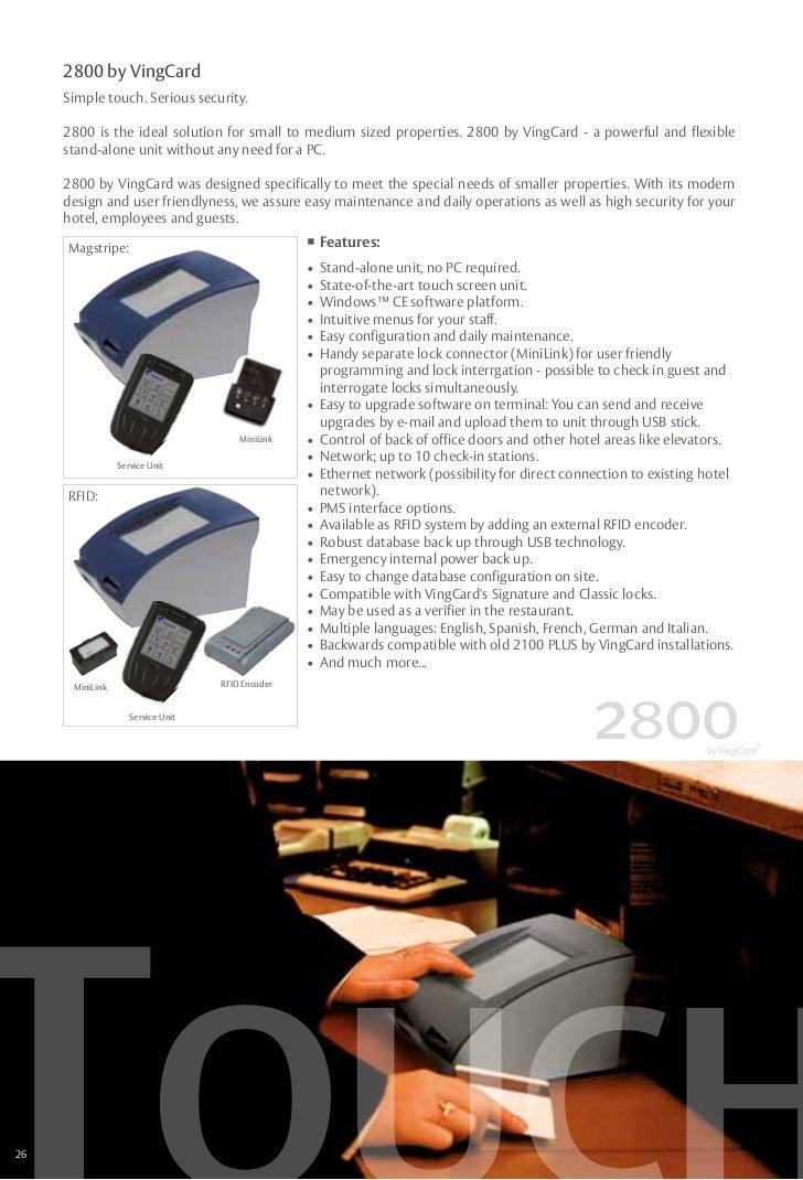 Vingcard Service Terminal Device