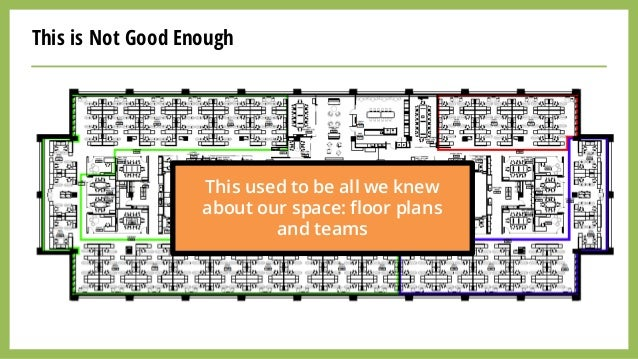 This is Not Good Enough This used to be all we knew about our space: floor plans and teams
