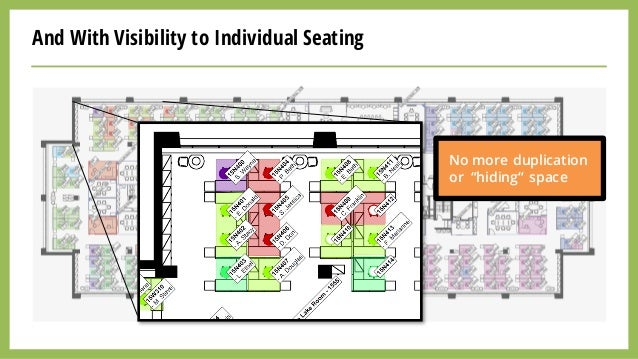 """And With Visibility to Individual Seating No more duplication or """"hiding"""" space"""