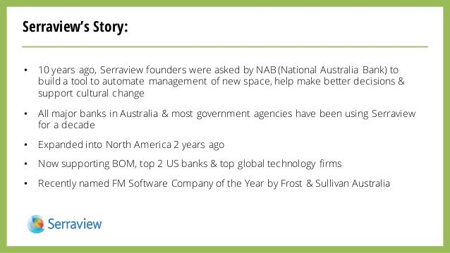 Serraview's Story: • 10 years ago, Serraview founders were asked by NAB (National Australia Bank) to build a tool to autom...