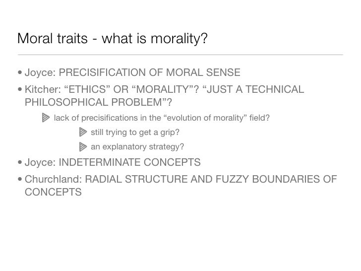 Functions and structure of morality