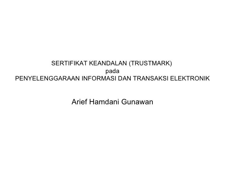 Sertifikat keandalan (trustmark)