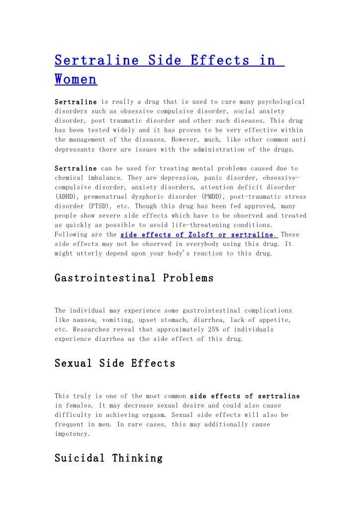 zoloft sedating effect