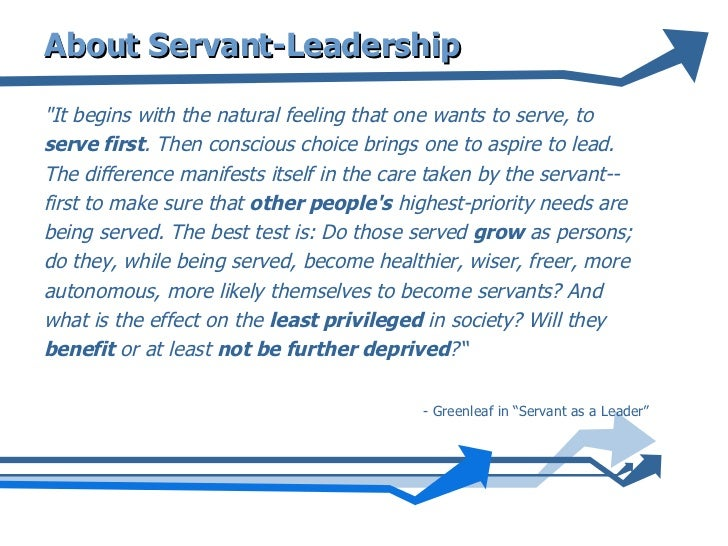 essay on servant leadership This paper will describe servant leadership and focus on the differences  between transformational leadership and servant leadership it will look at the.