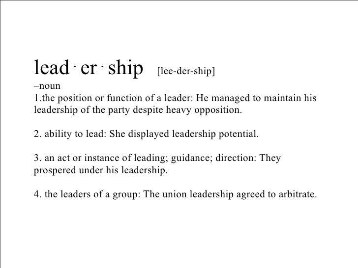 Laddership    vs. Leadership