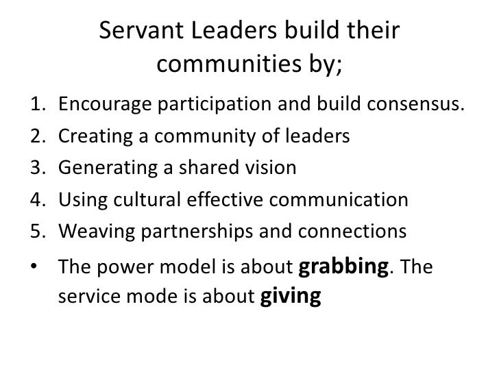service learning and servant leadership Service learning at mercy college of ohio is embedded within the curriculum of  each academic program  francis center for servant-leadership (2006.