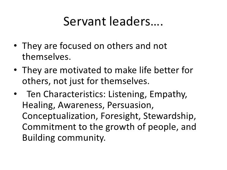 Serving others is a fundamental universal human value.