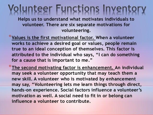 motivation to volunteer