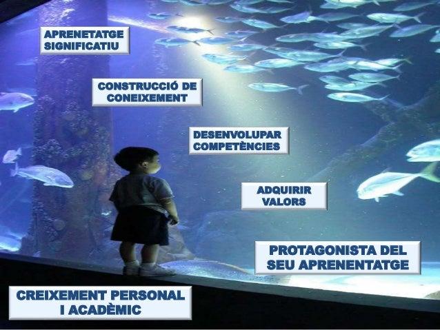 APRENETATGE  SIGNIFICATIU  CONSTRUCCIÓ DE  CONEIXEMENT  DESENVOLUPAR  COMPETÈNCIES  ADQUIRIR  VALORS  PROTAGONISTA DEL  SE...