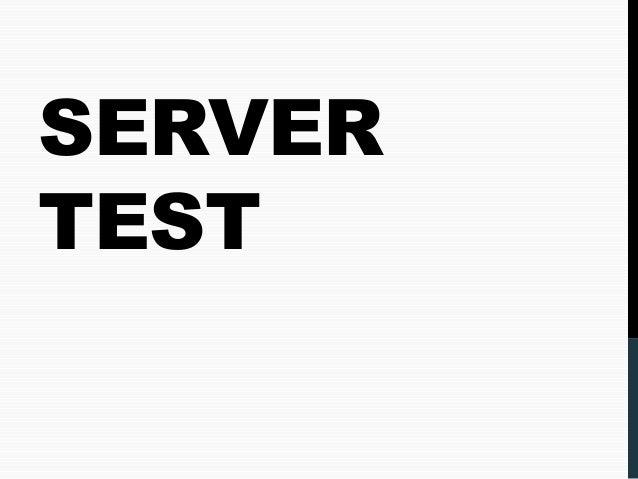 SERVER TEST