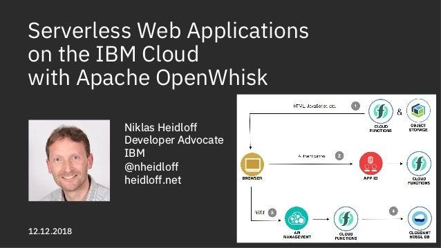 Serverless Web Applications on the IBM Cloud with Apache OpenWhisk Niklas Heidloff Developer Advocate IBM @nheidloff heidl...