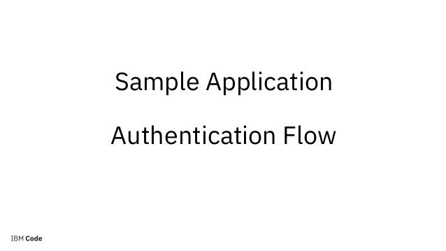 User Directory IBM App ID