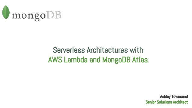 Webinar: Serverless Architectures with AWS Lambda and