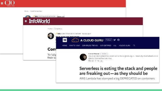 Serverless Architectures on AWS in practice - OSCON 2018