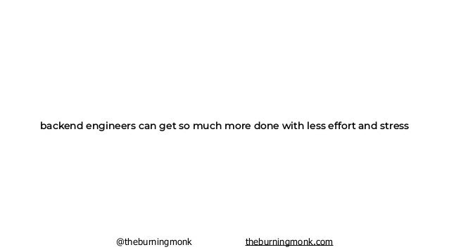 @theburningmonk theburningmonk.com focus your time and energy on improving the UX