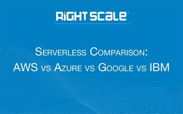 SERVERLESS COMPARISON: AWS VS AZURE VS GOOGLE VS IBM