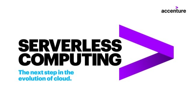 Serverless computing. The next step in the evolution of cloud.