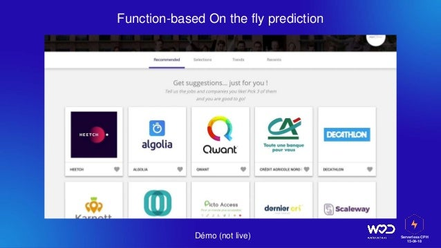 Serverless CPH 15-04-18 Function-based On the fly prediction Démo (not live)