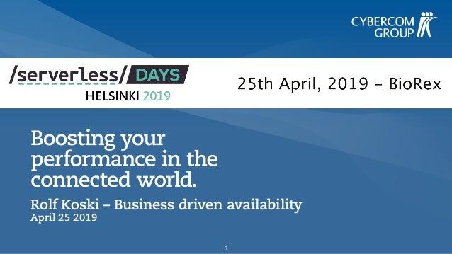 Rolf Koski – Business driven availability April 25 2019 1