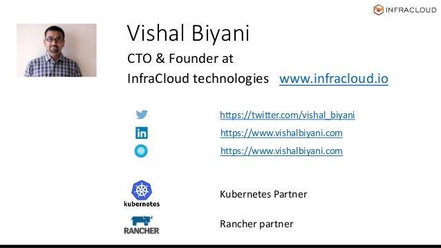 Vishal Biyani CTO & Founder at InfraCloud technologies www.infracloud.io https://twitter.com/vishal_biyani Kubernetes Part...