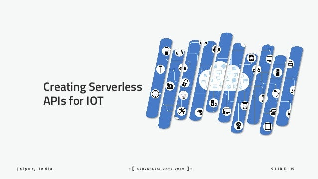 35S L I D EJ a i p u r , I n d i a S E R V E R L E S S D A Y S 2 0 1 9- [ ] - Creating Serverless APIs for IOT