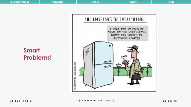 45S L I D EJ a i p u r , I n d i a S E R V E R L E S S D A Y S 2 0 1 9- [ ] - Internet of Things Serverless Python Create ...