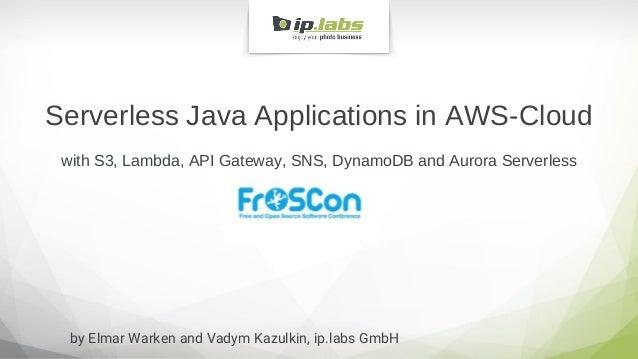 Serverless Java Applications