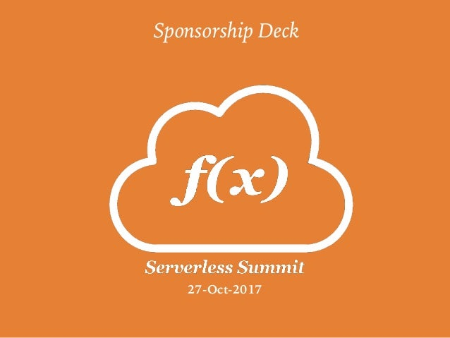 Sponsorship Deck 27-Oct-2017