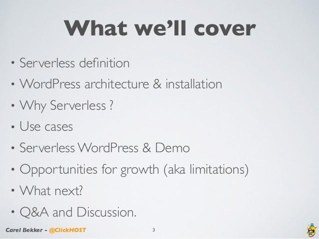 Serverless WordPress using AWS Services - WordCamp Atlanta 2017 Slide 3