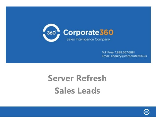 Server Refresh Sales Leads Data-as-a-Service