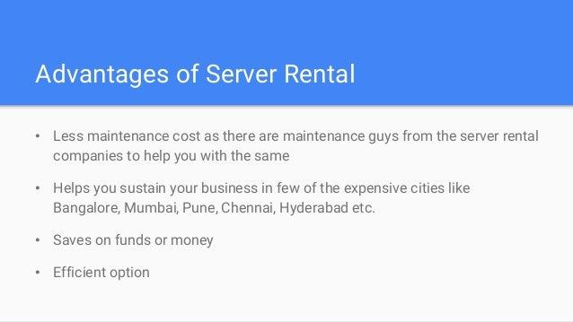 Server rental in bangalore mumbai pune