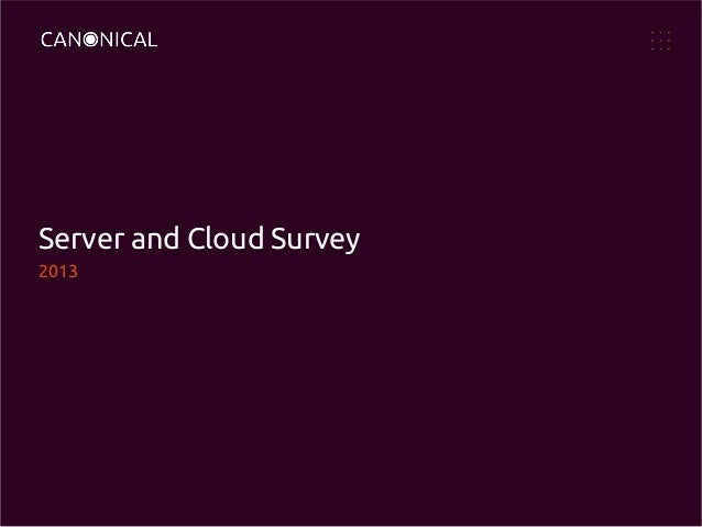Server and Cloud Survey 2013