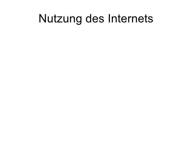 Nutzung des Internets