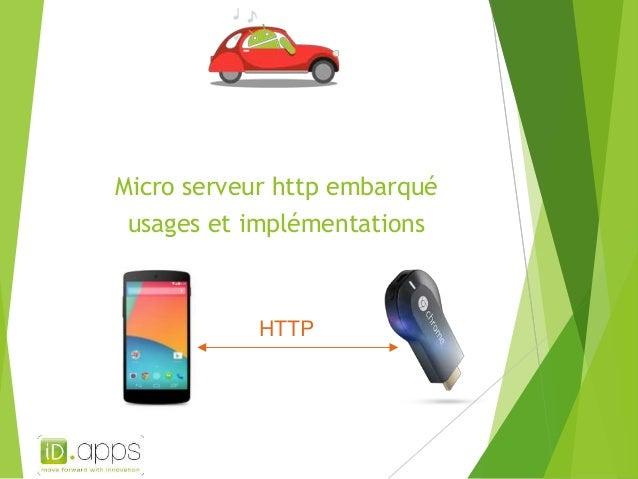 Micro serveur http embarqué usages et implémentations HTTP