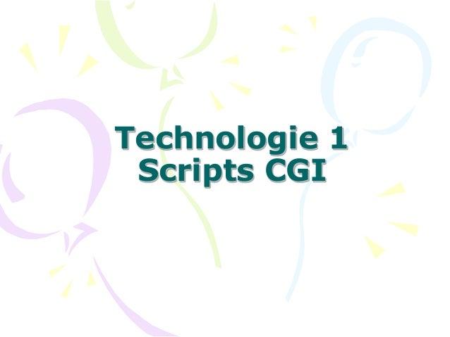 Technologie 1 Scripts CGI
