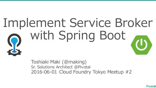 Implement Service Broker with Spring
