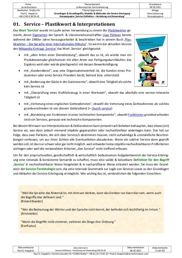 Konzeptpapier 'Service-Definition - Herleitung & Anwendung' V04.01.00 Slide 3