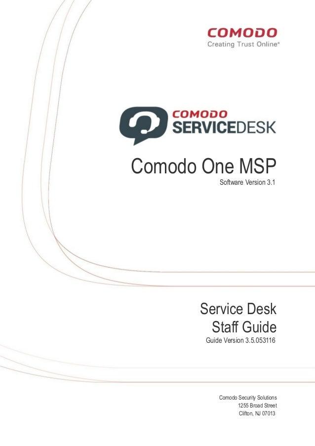 Service desk (itsm) software user manual.