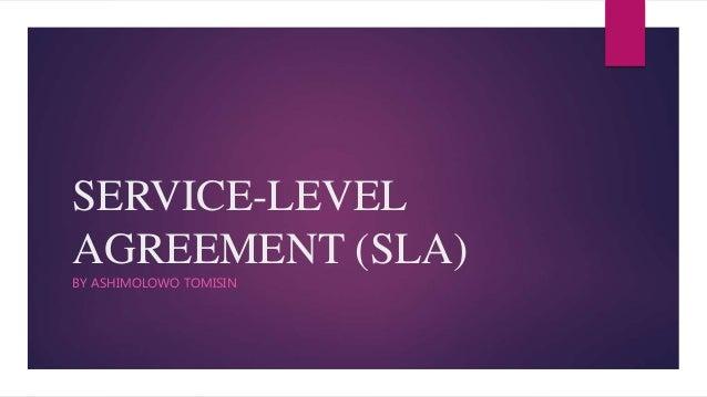 SERVICE-LEVEL AGREEMENT (SLA) BY ASHIMOLOWO TOMISIN