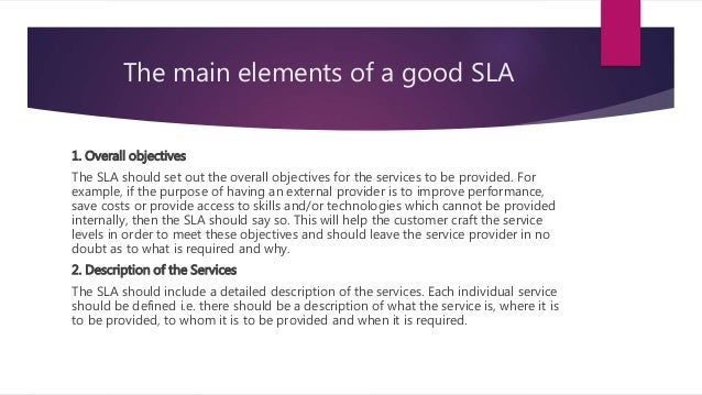 Service Level Agreement Presentation
