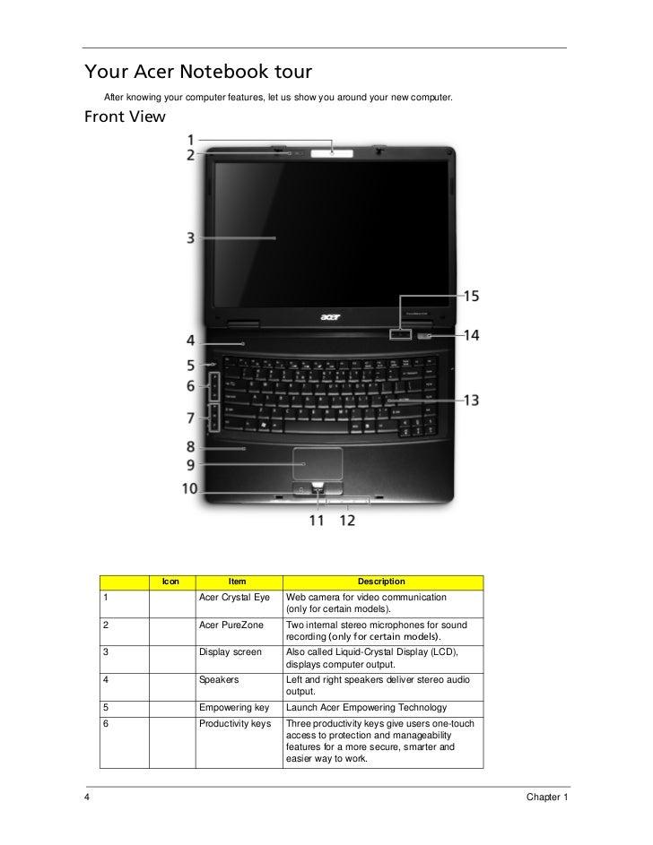 service manual acer travel mate 5730 extensa 5630 series rh slideshare net Acer Veriton 7600 Vista Wi-Fi Driver Acer Extensa 5220