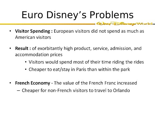 service marketing case study euro disney Euro disney or euro disaster case study help analysis with solution online looking for case solution online helps you prepare for your test through the tutors who are highly qualified and having years of experience.
