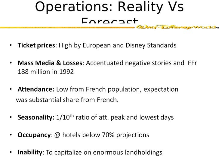euro disney case study marketing Marketing program case study by san and katie transcript of euro disney case study marketing program 609 euro disney from 1992 to now 1992 2010 2005 2002.