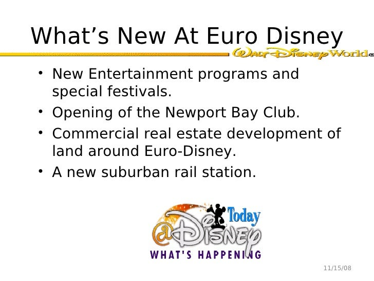 euro disney case study analysis Euro disneyland case study 1 introduction: the primary objective of this case analysis is to evaluate the proposed euro disneyland (edl) project by applying capital budgeting techniques such as net present value, analyze financial and economic risks, measure exposures of euro disneyland.