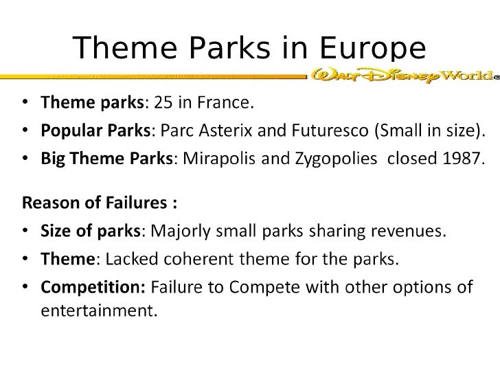ppt of case study of disney in france Case study #1 – euro disney, the first 100 days 10 introduction ever since the first disneyland was founded in 1955 in anaheim, california, the walt disney company had experienced nothing but success in the theme park business until its second oversea disneyland – euro disney was opened in france in 1992.