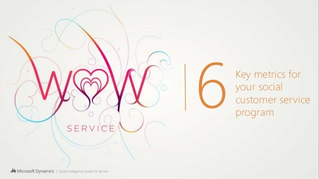 | Social Intelligence Guide for Service 6Key metrics for your social customer service program
