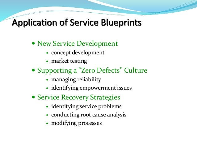 "Application of Service Blueprints  New Service Development  concept development  market testing  Supporting a ""Zero De..."