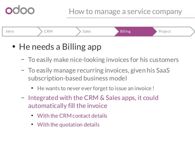 How To Manage A Service Company With Odoo - What is recurring invoice for service business