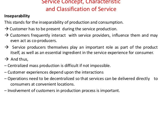 what is service concept